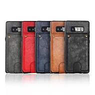 Недорогие Чехлы и кейсы для Galaxy Note 8-Кейс для Назначение SSamsung Galaxy Note 8 Кошелек / Бумажник для карт / со стендом Кейс на заднюю панель Однотонный Твердый Кожа PU для Note 8