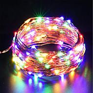 voordelige LED-lichtsnoeren-zdm usb koperdraad lichten fairy string 10 m / 33ft 100 leds met 7 verschillende kleuren rgb veranderen automatisch waterdichte sterrenhemel dcor touw lichten kerst strip verlichting (automatische ver