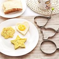 お買い得  キッチン用小物-ステンレス鋼のオムレツ卵の揚げ金型愛の花のラウンド星型