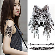 cheap Temporary Tattoos-3 pcs Tattoo Stickers Temporary Tattoos Totem Series / Animal Series Eco-friendly / New Design Body Arts Body / Arm / Chest / Decal-style temporary tattoos