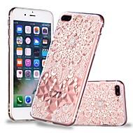 Недорогие Кейсы для iPhone 8-Кейс для Назначение Apple iPhone X / iPhone 8 Plus Прозрачный / С узором Кейс на заднюю панель Мандала / Кружева Печать Мягкий ТПУ для iPhone X / iPhone 8 Pluss / iPhone 8