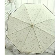 Недорогие Защита от дождя-Полиэстер / Нержавеющая сталь Все Новый дизайн Складные зонты