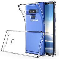 Недорогие Чехлы и кейсы для Galaxy Note-Кейс для Назначение SSamsung Galaxy Note 9 / Note 8 Прозрачный Кейс на заднюю панель Однотонный Мягкий ТПУ для Note 9 / Note 8