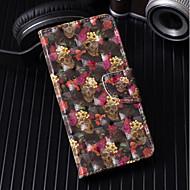 Недорогие Чехлы и кейсы для Galaxy A5(2017)-Кейс для Назначение SSamsung Galaxy A6+ (2018) / A6 (2018) Кошелек / Бумажник для карт / со стендом Чехол Черепа / Цветы Твердый Кожа PU для A6 (2018) / A6+ (2018) / A3 (2017)