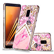 cheap Galaxy A Series Cases / Covers-Case For Samsung Galaxy A8 Plus 2018 / A8 2018 Pattern Back Cover Flower / Marble Soft TPU for A6 (2018) / A6+ (2018) / A8 2018