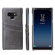 Недорогие Чехлы и кейсы для Galaxy Note-Кейс для Назначение SSamsung Galaxy Note 9 / Note 8 Бумажник для карт / Защита от удара Кейс на заднюю панель Мрамор Твердый Кожа PU для Note 9 / Note 8