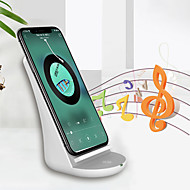 abordables Cargadores para iPod-soporte inalámbrico universal del cargador de la carga rápida de nueve cinco nf10 con el altavoz bt para el iphone x Samsung s7 s9