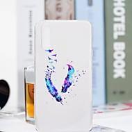 preiswerte Handyhüllen-Hülle Für Huawei P20 Pro / P20 lite Transparent / Muster Rückseite Feder Weich TPU für Huawei P20 / Huawei P20 Pro / Huawei P20 lite