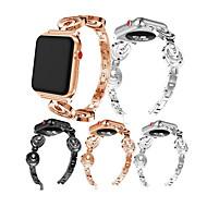 Недорогие Аксессуары для смарт-часов-Ремешок для часов для Fitbit Versa Fitbit Современная застежка / Дизайн украшения Металл Повязка на запястье