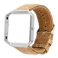 Watch kapela pro Fitbit Blaze Fitbit Kožená smyčka Pravá kůže Poutko na zápěstí