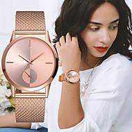 cheap -Women's Wrist Watch Quartz Chronograph Creative New Design Plastic Band Analog Luxury Elegant Black / Silver / Gold - Silver / Black Rose Gold Silvery / White One Year Battery Life
