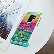 Недорогие Чехлы и кейсы для Galaxy S-Кейс для Назначение SSamsung Galaxy S9 Plus / S9 Защита от удара / Стразы / С узором Кейс на заднюю панель Слова / выражения Твердый ПК для S9 / S9 Plus / S8 Plus