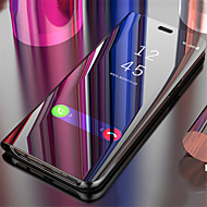 Недорогие Кейсы для iPhone 8-Кейс для Назначение Apple iPhone X Зеркальная поверхность / Флип / Авто Режим сна / Пробуждение Чехол Однотонный Твердый ПК для iPhone X / iPhone 8 Pluss / iPhone 8