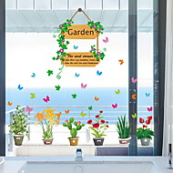 Window Film & Stickers Decoration Contemporary / Ordinary Floral / Simple PVC(PolyVinyl Chloride) Window Sticker / Lovely