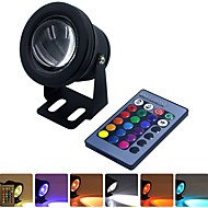 cheap -YWXLIGHT® 1pc 10 W Underwater Lights Waterproof / Remote Controlled RGB 12 V Swimming pool / Suitable for Vases & Aquariums 1 LED Beads