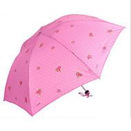 abordables Accesorios para la Lluvia-Acero Inoxidable Todo Soleado y lluvioso / Adorable Paraguas de Doblar