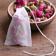 20pcs teabags שקיות תה מבושל ריק עם חוט לרפא חותם מסנן נייר עבור עשב תה רוסי bolsas