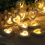 cheap -1.2m String Lights 10 LEDs Warm White Cool AA Batteries Powered 1pc