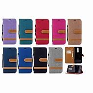 お買い得  携帯電話ケース-ケース 用途 Nokia Nokia 5.1 / Nokia 3.1 ウォレット / カードホルダー / スタンド付き フルボディーケース ソリッド ハード 繊維 のために Nokia 5.1 / Nokia 3.1 / Nokia 2.1