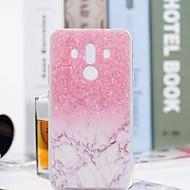 お買い得  携帯電話ケース-ケース 用途 Huawei Mate 10 pro / Mate 10 lite クリア / パターン バックカバー マーブル ソフト TPU のために Mate 10 / Mate 10 pro / Mate 10 lite