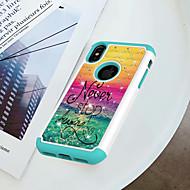 Недорогие Кейсы для iPhone 8-Кейс для Назначение Apple iPhone X / iPhone 8 Защита от удара / Стразы / С узором Кейс на заднюю панель Слова / выражения Твердый ПК для iPhone X / iPhone 8 Pluss / iPhone 8