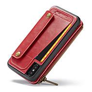 Недорогие Кейсы для iPhone 8-Кейс для Назначение Apple iPhone X Кошелек / Бумажник для карт / Флип Чехол Однотонный Твердый Кожа PU для iPhone X / iPhone 8 Pluss / iPhone 8