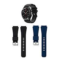 Недорогие Аксессуары для смарт-часов-Ремешок для часов для Gear S3 Frontier / Gear S3 Classic Samsung Galaxy Спортивный ремешок силиконовый Повязка на запястье