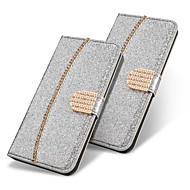 Недорогие Чехлы и кейсы для Galaxy S9-Кейс для Назначение SSamsung Galaxy S9 Plus / S8 Plus Кошелек / Бумажник для карт / Стразы Чехол Однотонный / Сияние и блеск / Стразы Твердый Кожа PU для S9 / S9 Plus / S8 Plus