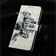 Недорогие Кейсы для iPhone 8-Кейс для Назначение Apple iPhone XR / iPhone XS Max Кошелек / Бумажник для карт / со стендом Чехол Черепа Твердый Кожа PU для iPhone XS / iPhone XR / iPhone XS Max