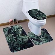 abordables Alfombras y moquetas-3 Piezas Modern Esteras de Baño Poliéster Elástico Tejido de 100g / m2 Estampado Floral Irregular Baño Nuevo diseño