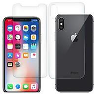 Недорогие Защитные плёнки для экрана iPhone-Защитная плёнка для экрана для Apple iPhone XS Закаленное стекло 2 штs Защитная пленка для экрана и задней панели HD / Уровень защиты 9H / 2.5D закругленные углы