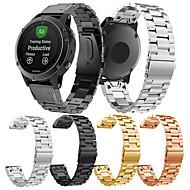 Недорогие Аксессуары для смарт-часов-Ремешок для часов для Fenix 5 Garmin Классическая застежка Нержавеющая сталь Повязка на запястье