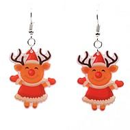 cheap -Women's 3D Drop Earrings - Elk Simple Orange For Christmas