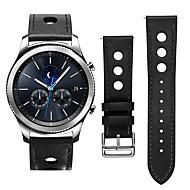 Недорогие Аксессуары для смарт-часов-Ремешок для часов для Gear S3 Frontier / Gear S3 Classic LTE Samsung Galaxy Классическая застежка / Кожаный ремешок Кожа Повязка на запястье