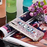 お買い得  携帯電話ケース-ケース 用途 Huawei P20 / P20 Pro 耐衝撃 / リキッド / パターン バックカバー パンダ ソフト TPU のために Huawei P20 / Huawei P20 Pro / Huawei P20 lite
