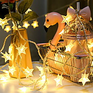 cheap -1.5m String Lights 10 LEDs Warm White New Design / Decorative / Cool AA Batteries Powered