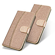 cheap -Case For Apple iPhone XR / iPhone XS Max Wallet / Card Holder / Flip Full Body Cases Solid Colored / Glitter Shine Hard PU Leather for iPhone XS / iPhone XR / iPhone XS Max