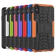 Недорогие Кейсы для iPhone 8-Кейс для Назначение Apple iPhone XS / iPhone XS Max Защита от удара / со стендом Кейс на заднюю панель Плитка / броня Твердый ПК для iPhone XS / iPhone XR / iPhone XS Max
