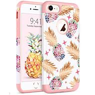 Недорогие Кейсы для iPhone 8-BENTOBEN Кейс для Назначение Apple iPhone 8 / iPhone 7 Защита от удара / IMD / С узором Кейс на заднюю панель Растения / Фрукты Мягкий ПК / силикагель для iPhone 8 / iPhone 7