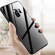 Недорогие Чехлы и кейсы для Galaxy S8 Plus-Кейс для Назначение SSamsung Galaxy S9 Plus / S9 Защита от удара / Зеркальная поверхность Кейс на заднюю панель Однотонный Твердый Закаленное стекло для S9 / S9 Plus / S8 Plus