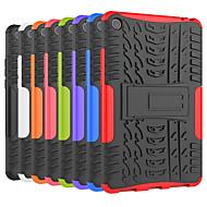 お買い得  携帯電話ケース-ケース 用途 Xiaomi Xiaomi Tab 4 耐衝撃 / スタンド付き バックカバー タイル柄 / 鎧 ハード PC のために Xiaomi Tab 4