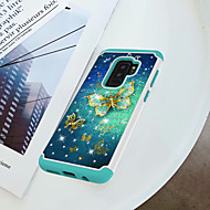 Недорогие Чехлы и кейсы для Galaxy S9-Кейс для Назначение SSamsung Galaxy S9 Plus / S9 Защита от удара / Стразы / С узором Кейс на заднюю панель Бабочка Твердый ПК для S9 / S9 Plus / S8 Plus