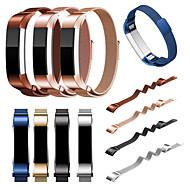 Недорогие Аксессуары для смарт-часов-Ремешок для часов для Fitbit Alta Fitbit Миланский ремешок Нержавеющая сталь Повязка на запястье
