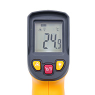 お買い得  -デジタル赤外線温度計-50〜400度非接触赤色レーザー温度計hy45