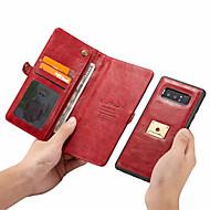 Недорогие Чехлы и кейсы для Galaxy Note 8-Кейс для Назначение SSamsung Galaxy Note 9 Кошелек / Бумажник для карт Чехол Однотонный Твердый Кожа PU для Note 9 / Note 8