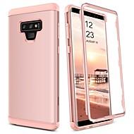 Недорогие Чехлы и кейсы для Galaxy Note-BENTOBEN Кейс для Назначение SSamsung Galaxy Note 9 Защита от удара Чехол Однотонный Твердый ТПУ / ПК для Note 9