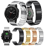 Недорогие Аксессуары для смарт-часов-Ремешок для часов для Fenix 5 Garmin Классическая застежка Металл / Нержавеющая сталь Повязка на запястье