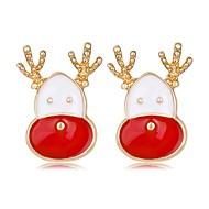 お買い得  -女性用 3D スタッドピアス  -  Elk クラシック, ファッション レインボー 用途 クリスマス 新年