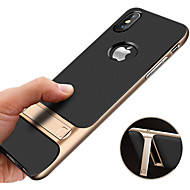 Capinha Para Apple iPhone XR / iPhone XS Max Antichoque / Com Suporte / Ultra-Fina Capa traseira Sólido Rígida PC para iPhone XS / iPhone XR / iPhone XS Max