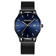 cheap Jewelry & Watches-Men's Wrist Watch Quartz 30 m Water Resistant / Water Proof Calendar / date / day Casual Watch Stainless Steel Band Analog Casual Fashion Black - Black / Blue Black / Rose Gold One Year Battery Life